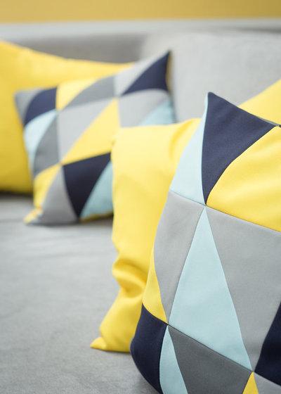 diy fabriquer une housse de coussin en patchwork. Black Bedroom Furniture Sets. Home Design Ideas