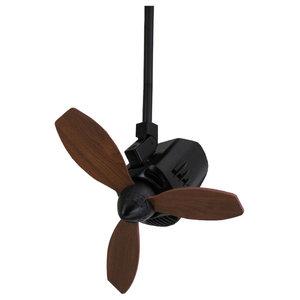 MrKen Swing 110 Degree Sweep Ceiling Fan, Matt Black, 45 cm