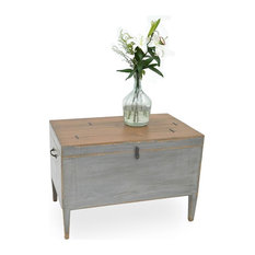 37-inch Olimpia Set Of Two Side Table  Secret Storage Reclaimed Solid Pine Wood Bras