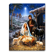 A Savior Is Born Illuminated Wall Art