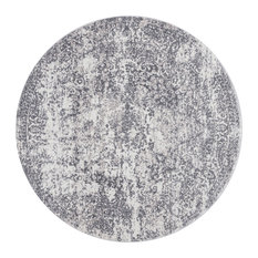 """Patina Area Rug by Loloi, Silver/Light Gray, 7'10""""x7'10"""" Round"""
