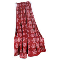 "Snowflake Red Christmas Decorative Throw, Red, 60"" X 80"""