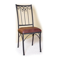 mathews u0026 company milan dining side chair dining chairs - Wrought Iron Patio Chairs