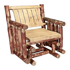 Glacier Country Collection Single Seat Glider, Exterior Stain Finish