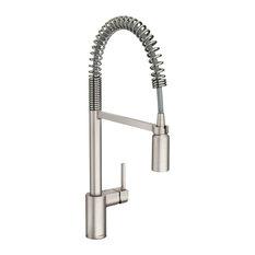 Moen Align Spot Resist Stainless 1H Pre-Rinse Spring Pulldown Faucet 5923SRS