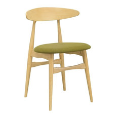 Telyn Dining Chair Natural And Olive Set Of 2