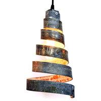 CORBA Collection - Sapina - Wine Barrel Ring Pendant Light, Black Pendant Cord