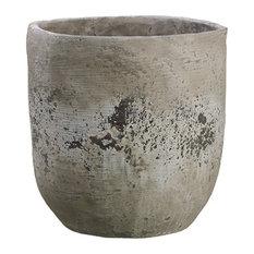 Silk Plants Direct Cement Planter, Set of 2