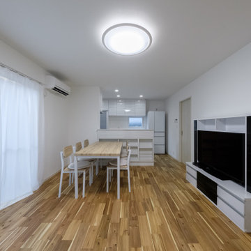 『無垢の床が映える家』
