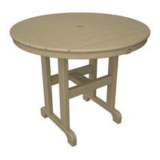 Trex Outdoor Furniture Monterey Bay Round 36 Dining Table Sand Castle