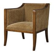 Uttermost Milson Caramel Fabric Club Chair
