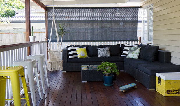 Beach Style Deck by Walk Among The Homes