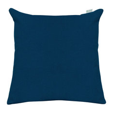 Navy Blue Solid Large Pillow 20x20