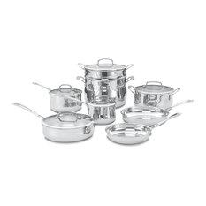 Contour Stainless 13-Piece Cookware Set