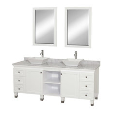wyndham collection wyndham collection quot premiere white vanity set with white carrera marble top: 55 inch double sink bathroom vanity