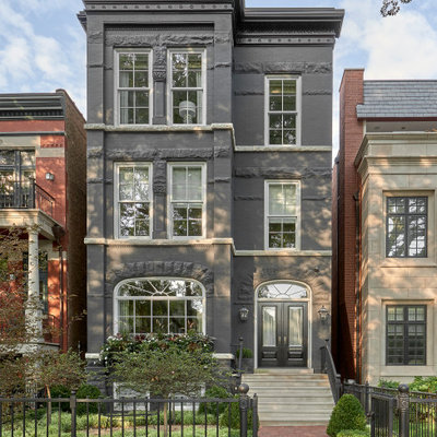 Transitional exterior home photo in Chicago