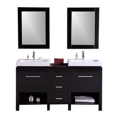 Modern Bathroom Vanity Model Sapporo 3000 With Mirrors