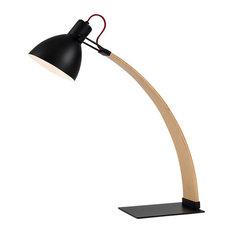 Laito Wood Table Lamp, Black