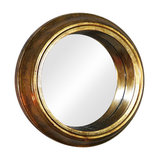 Vintage Antique Gold Round Wall Mirror, 37x37 cm