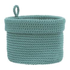 "Mode Crochet 10""x10"" Bskt With Loop"