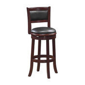 "Boraam Augusta 29"" Swivel Bar Stool in Cherry"