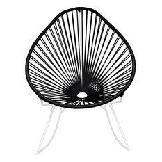 Innit Designs Junior Acapulco Rocker Chair, White Base, Black