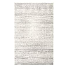 nuLOOM Nova Stripes Contemporary Area Rug, Gray, 8'x11'