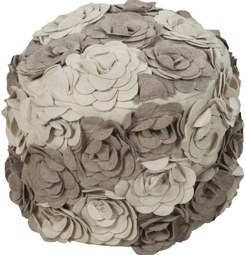 Surya Poufs- (POUF-28) - Floor Pillows And Poufs