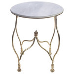 Go Home - Fallon Occasional Table - The Fallon Occasional Table by Go Home is made of stylish curved wire like brass and charming round matching marble top. This contemporary side table is the right choice to dress up your living room.