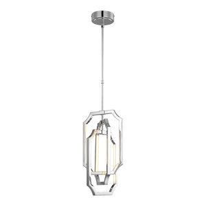 Medium 1-Light Pendant, Polished Nickel