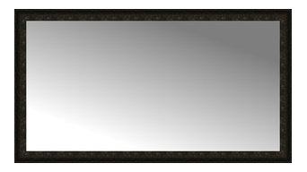 "70""x39"" Custom Framed Mirror, Dark Brown"