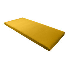 "Sunbrella Bench Seat Cushion, Sunflower Yellow, 40""x18.5"""