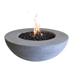 Patio, Garden and Landscape Co. - Cast Concrete Lunar Bowl, Natural Gas - Fire Pits