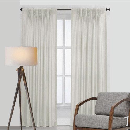 white pinch pleat curtains