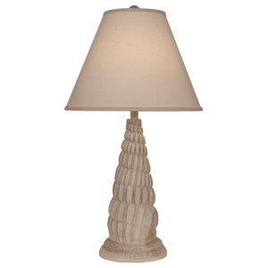 Nude Two Tone Mini Spiral Shell Table Lamp