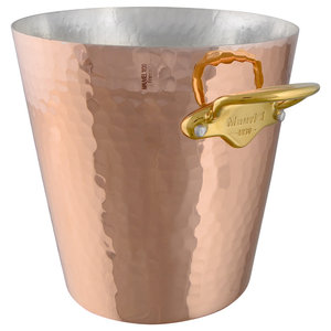 Mauviel M'30 Hammered Copper Ice Bucket, Bronze Handles
