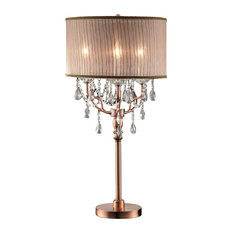 Ok Lighting Rosie Crystal Table Lamp Lamps
