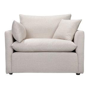 Cameron Armchair, White Linen