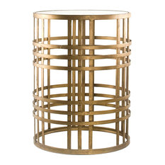innerspace luxury products barrel end table side tables and end tables