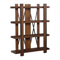 "Industrial Collection 4 Shelf 60"" Bookcase"
