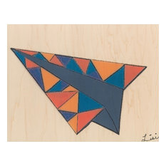 Blue Airplane Triangles 11x14