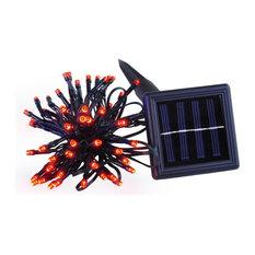 100-Led Solar String Fairy Light Waterproof, Red