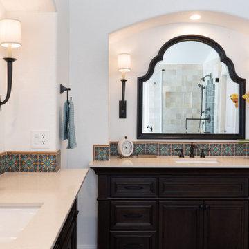 Tierrasanta Spanish Inspired Master Bathroom