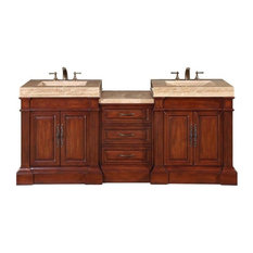 "Silkroad 83"" Modern Double Sink Bathroom Vanity"