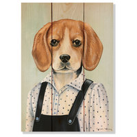 Beagle Indoor/Outdoor Full Color Wood Wall Art, 11x15