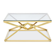 Chandler Coffee Table Polished Gold Steel