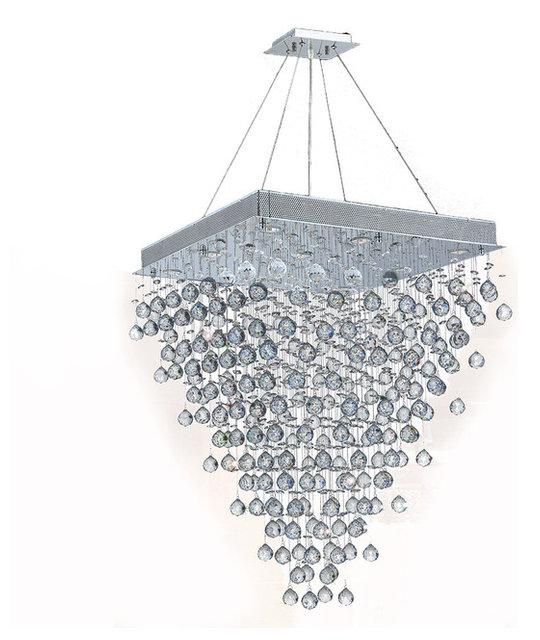Icicle 10 light chrome finish raindrop crystal chandelier 28 square icicle 10 light chrome finish raindrop crystal chandelier 28 square aloadofball Image collections