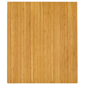 """Bamboo Roll-Up Chairmat, 42""""x48"""", no lip"""