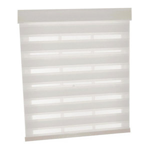 """Cordless Celestial Sheer Double Layered Shade, 35""""x72"""", White"""