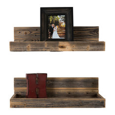 Del Hutson Designs Reclaimed Wood Floating Shelves Set Of 2 Display And Wall